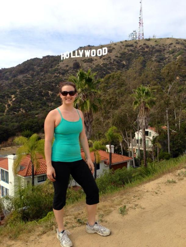 We hiked up to the Hollywood sign