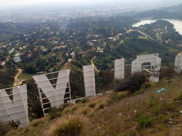 We hiked all the way up and behind the sign! Amazing view of LA and the surrounding areas